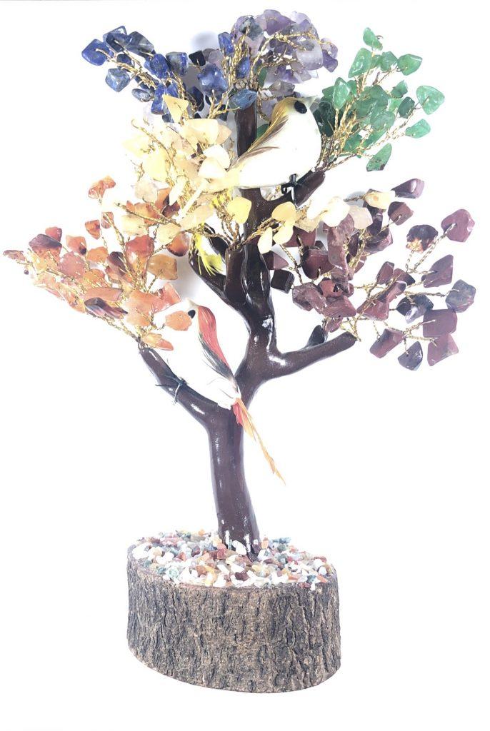 gemstone chakra tree for attracting money