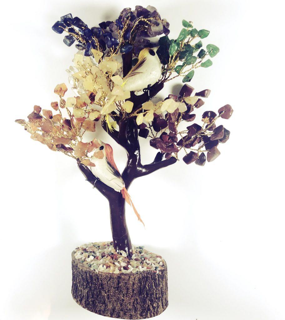 gemstone chakra tree for attracting success